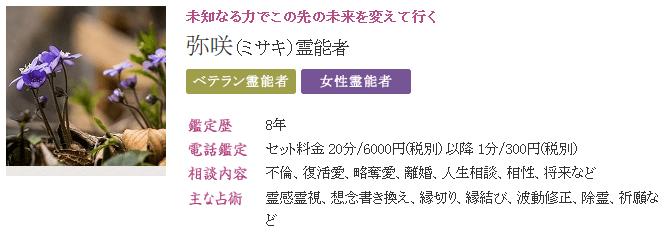 弥咲先生のプロフィール