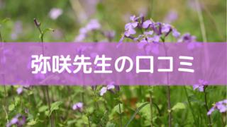 弥咲先生の口コミ