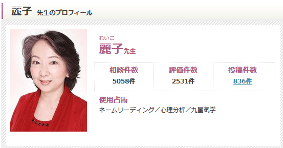 麗子先生の写真
