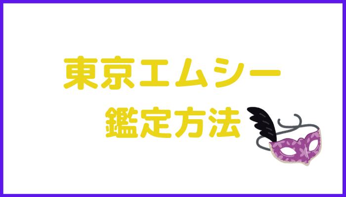 東京エムシーの鑑定方法